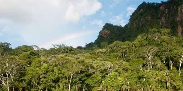 Rainbow over Madidi NP